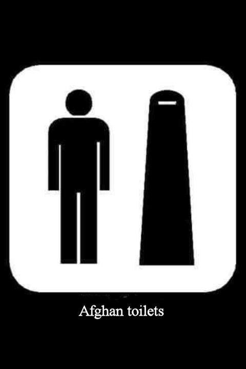 Afgan Wc Restroom SignsBathroom