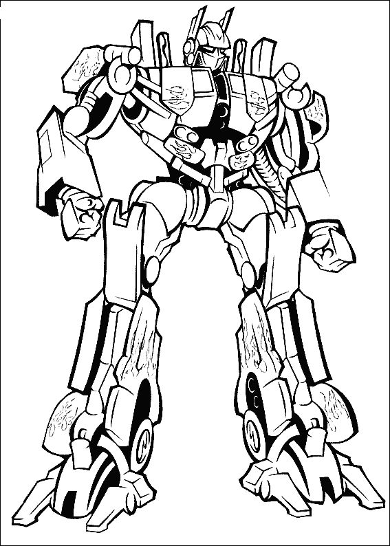 Printable coloring pages - Transformers (Superheroes)