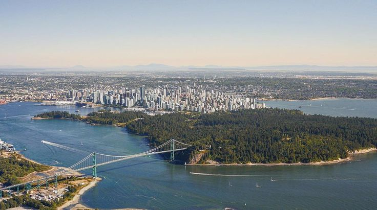 Helicoptering over Vancouver
