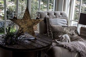 Vakkert Stjerne til dekor, med telys, Antikk stil