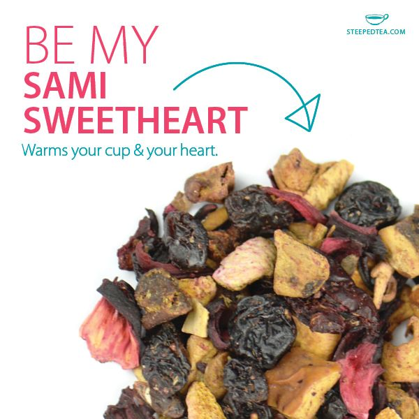 Sami Sweetheart is a blend of Saskatoon Berries, peach and raspberry. PLUS, for every 100g/3.5oz. bag sold, $1 is donated to the Juvenile Diabetes Research Foundation (JDRF). What's not to love? www.steepedtea.com