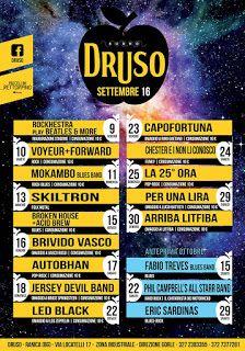Semino pensieri accidentali...semplicemente Zed72: Evento : La 25ora in concerto al Druso di Bergamo