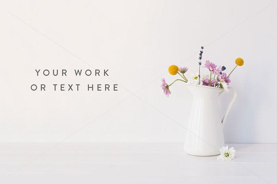 Styled stock photography  Floral styled wall by WhiteHartDesignCo