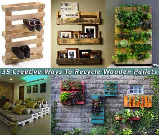 35 genius ways to recycle pallets pallets for Ways to recycle wood
