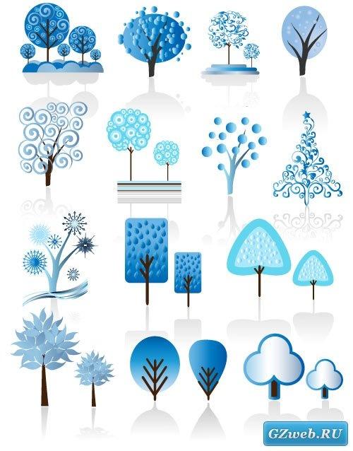 Зимние деревья (Вектор)
