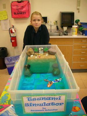 19 best tsunami images on pinterest science fair school villa augustina ms science and math ocean projects grade sciox Images