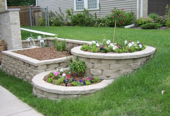 landscape block ideas | tier landscape with landscape blocks - DIY, About 400 patio blocks ...