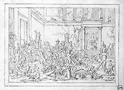 Les Prétendants. Composition d'ensemble, Gustave Moreau