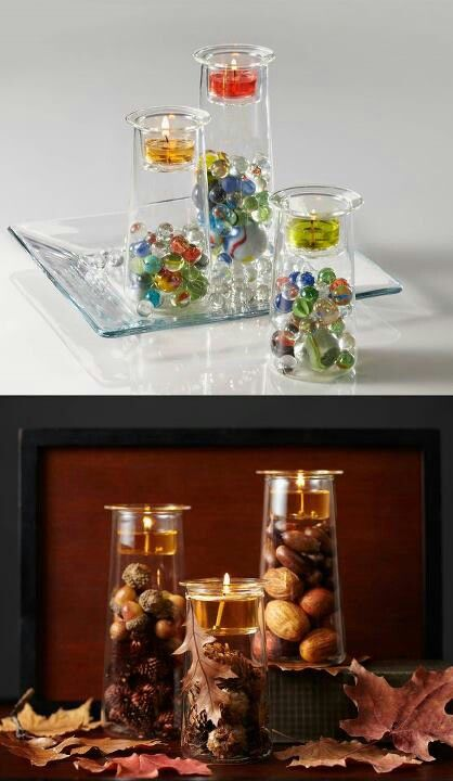 Just love how versatile Partylite Clearly Creative Symmetry Trio  are to decorate for the fall. http://www.partylite.biz/marybethbaroletti
