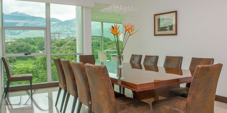 Amazing view at the dinning room in The Greenview Apartment at Central Park Escazú - Escazú - Costa Rica http://lxcostarica.com/property/greenview-apartment-centralpark-escazu