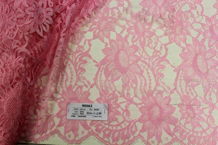 99562 - 110 cm - 5m35 - pink - 162€ - Dentelles Jean Bracq