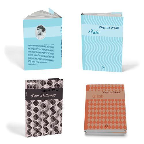 Wybrane projekty okładek książek: pierwsza - tomik wierszy Sylvii Plath, kolejne trzy - seria książek Virginii Woolf. Wykonane podczas zajęć z projektowania graficznego. *Selected projects of book covers which were made for graphic design classes.