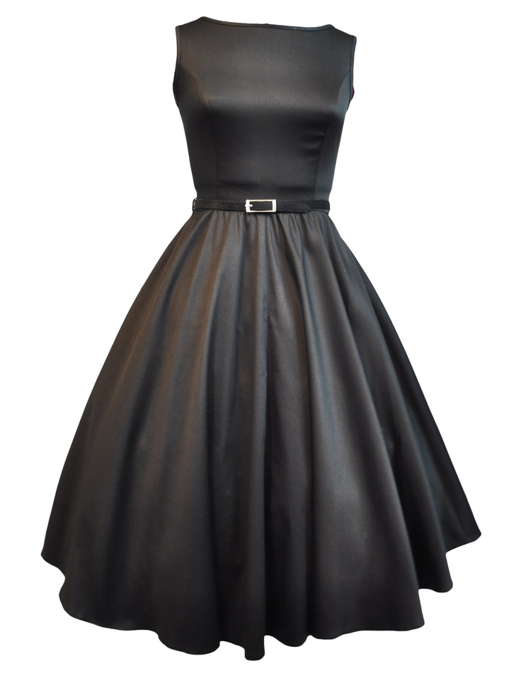 Lady V London Black Audrey Hepburn Dress