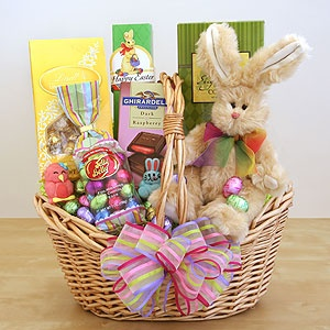 8 best easter basket ideas images on pinterest bunnies candies easter sweets and treats bunny gift basket negle Image collections