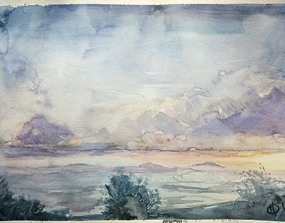 """Check out new work on my @Behance portfolio: """"small landscapes"""" http://be.net/gallery/54151165/small-landscapes"""