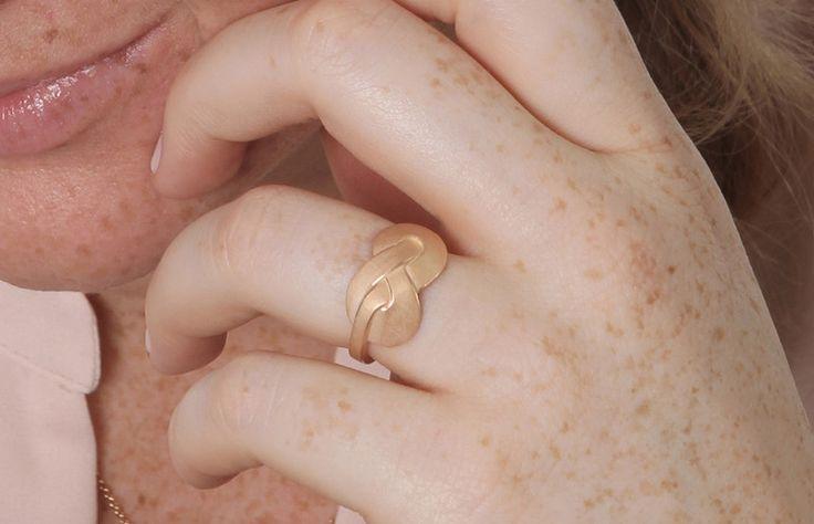 """Freundschaftsringe - Ring """"Herzensbund"""" breit, Silber rosé-goldplatt. - ein Designerstück von Sibylle-Krause-Schmuckdesign bei DaWanda"""