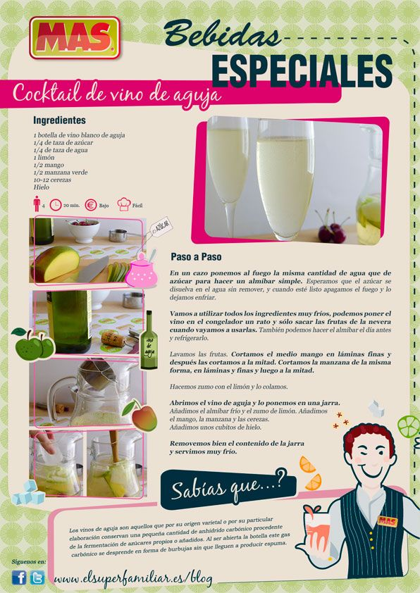 Cocktail de vino de aguja para ocasiones especiales for Platos para ocasiones especiales