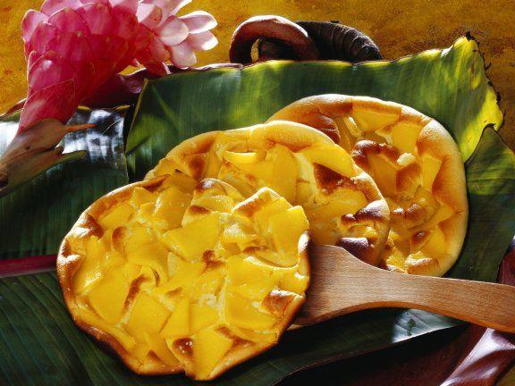 Schnelles Frühstück mit Vitaminen und Eiweiß: Omelett mit Mango