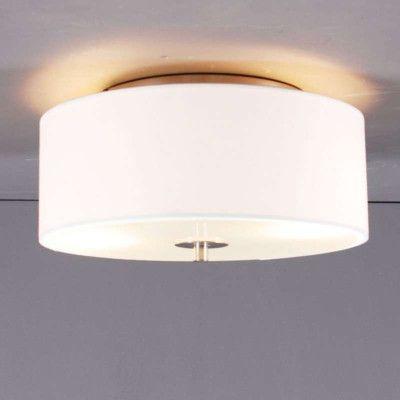 Plafonniere Drum 30 rond creme wit - Lampenlicht.nl