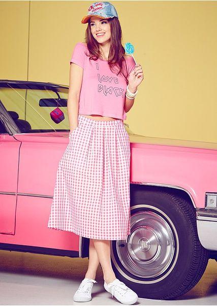 50's style skirt #inspirations #skirt #pattern #pink #girly #sweet