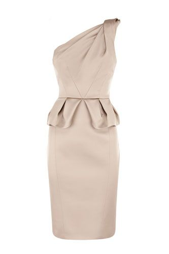 14 Party-Worthy Dresses For Procrastinators #refinery29  http://www.refinery29.com/new-years-eve-dresses#slide7  Karen Millen Signature Stretch Satin Dress, £175, available at Karen Millen.