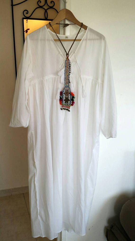 Retrouvez cet article dans ma boutique Etsy https://www.etsy.com/fr/listing/529035793/robe-longue-blanche-tout-coton-indien