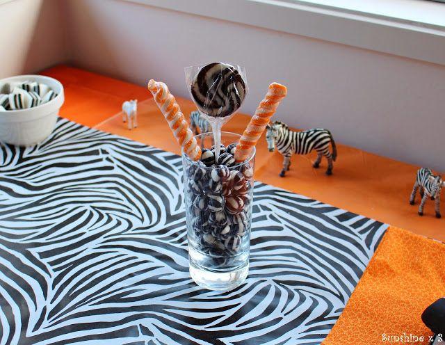 Zebra Party - table decorations