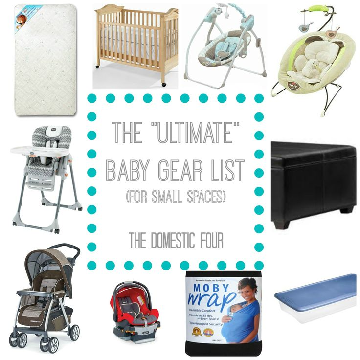 The Ultimate Baby Gear List (For Small Spaces)