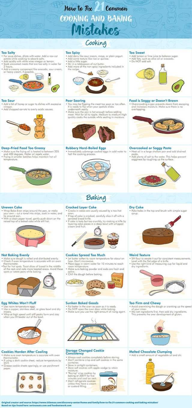 How to fix 21 common cooking and baking mistakes    Yummy food ideas