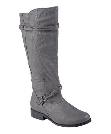 Look what I found on #zulily! Gray Harley Boot #zulilyfinds