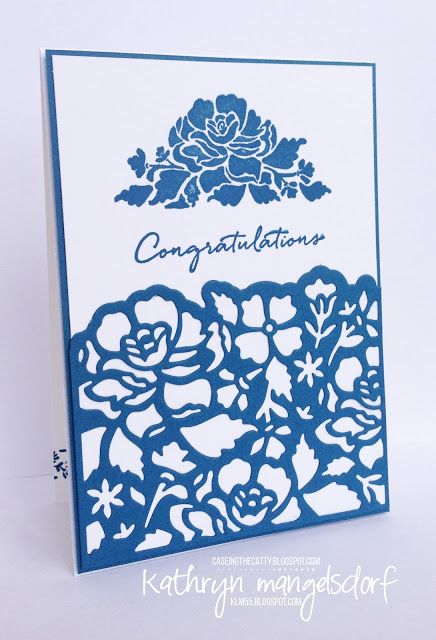 Stampin' Up! Floral Phrases & Detailed Floral Thinlits card created by…