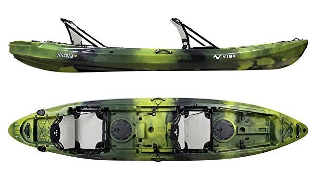 Vibe Kayaks Yellowfin 130t 13 Foot Tandem Sit On Top Kayak Great Fishing Kayak Kayak Fishing Best Fishing Kayak Kayak Fishing Accessories