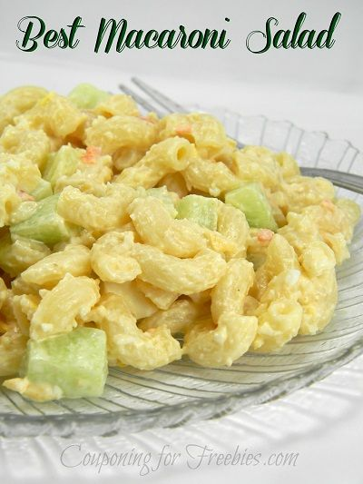 Simple Macaroni Salad, You Make You Will Never Buy Store Bought Again! - http://couponingforfreebies.com/simple-macaroni-salad-recipe/