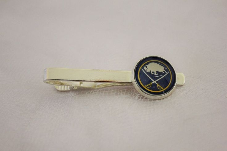 Buffalo Sabres Tie Clip made from Hockey Trading Cards Upcycled #BuffaloSabres
