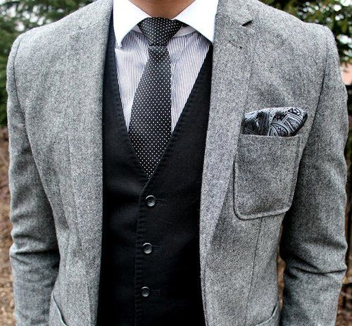 Gray Wool Patch Pocket Blazer