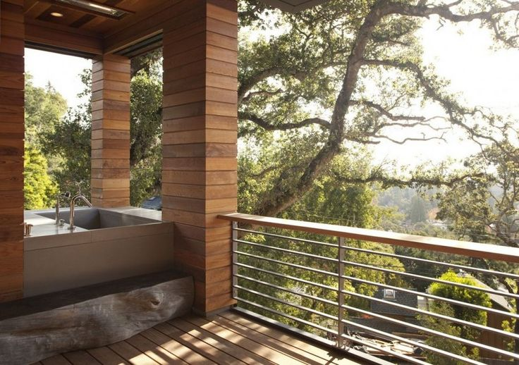 The Contemporary Hillside House---Great view and combo (letting the outside in and the inside out----LOVE)