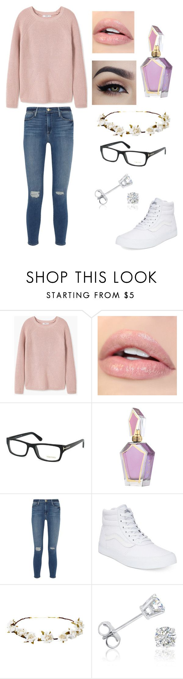 """""""my answer is you"""" by marineglass ❤ liked on Polyvore featuring MANGO, Tom Ford, Frame Denim, Vans, Cult Gaia and Amanda Rose Collection"""