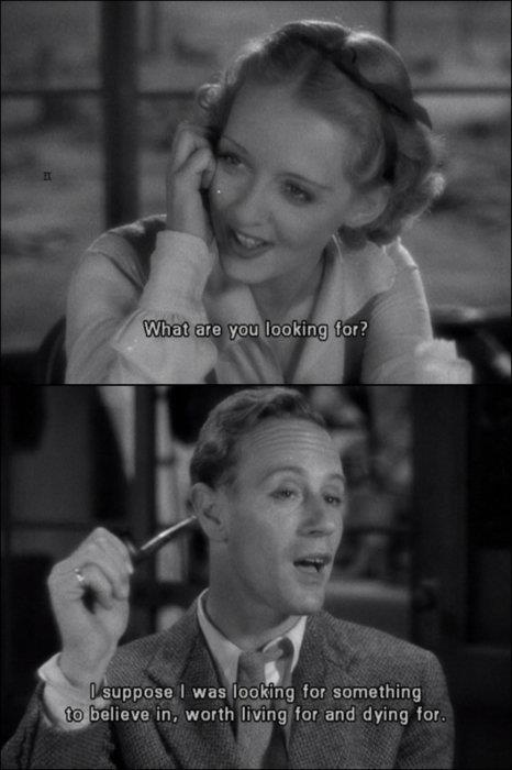 Leslie Howard and Bette Davis The Petrified Forest #movie #quote