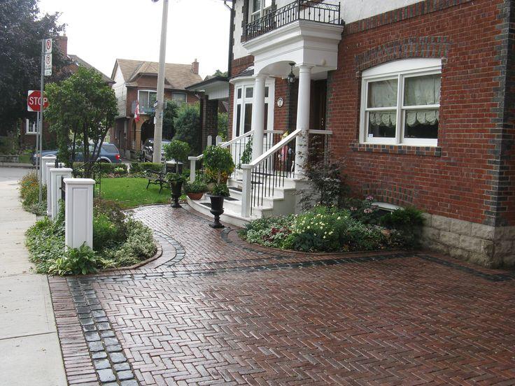 Best Front Gardens Entrances U Driveways Images And