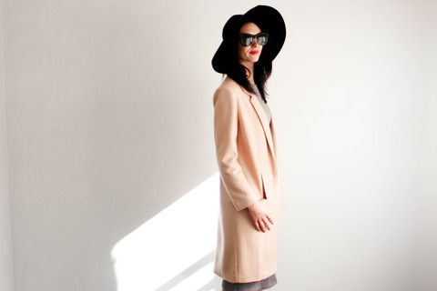 Semi-formal chic coat in Camel. love!