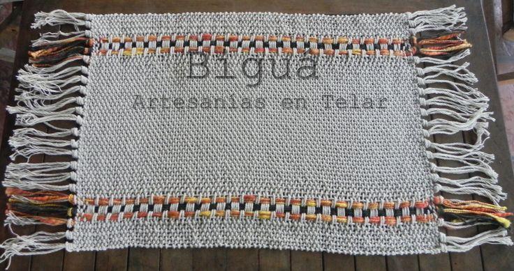 Carpeta rectangular tejida en #Telar María