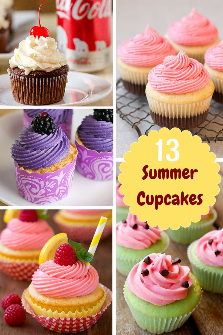 13 Summer Cupcakes - find the perfect summer cupcake recipe for your summer entertaining.