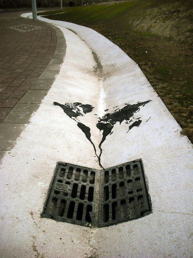 world about to vanish; spanish street art
