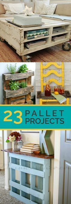 23 Awesome DIY Wood Pallet Ideas love the coffee table!