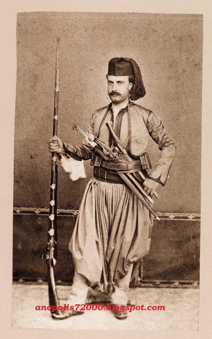 Armed man from Skafia (Crete). Late 19th century.
