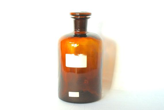 Apothecary Amber Glass Bottle With Lid