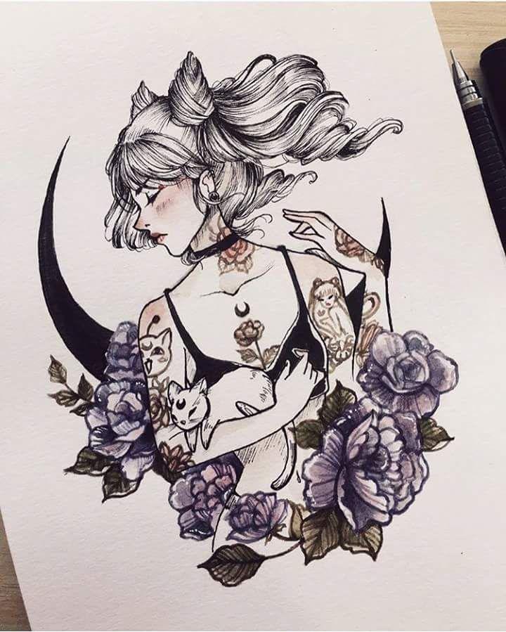 Artist instagram @peithedragon Sailor Moon