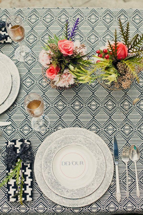 Unique wedding table.