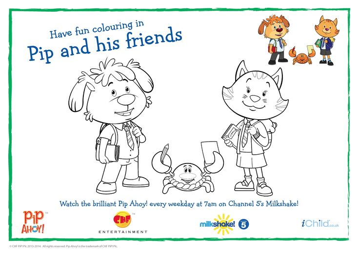 Back to school with Pip and his friends colouring in sheet!
