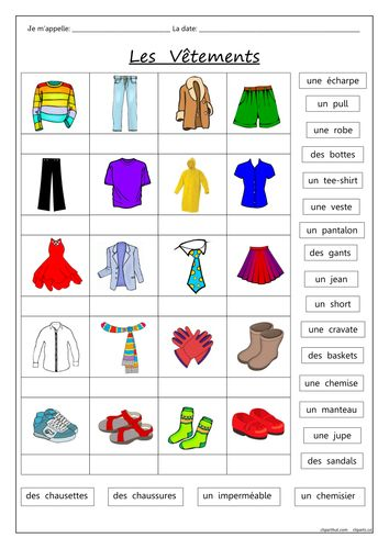 image 354 500 french clothing vocab french worksheets french outfit teaching french. Black Bedroom Furniture Sets. Home Design Ideas